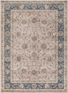 Concord Global Trading Area Rugs Kashan Beige Area Rugs 2821 By Concord Global in 6 Sizes