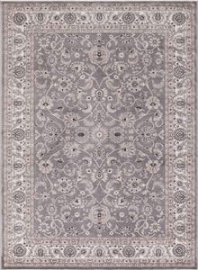 Concord Global Trading Area Rugs Kashan Gray Area Rugs 2816 By Concord Global in 6 Sizes