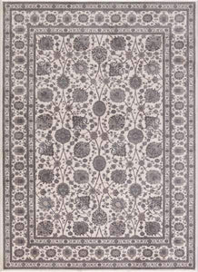 Concord Global Trading Area Rugs Kashan Ivory Area Rugs 2842 By Concord Global in 6 Sizes