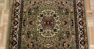 Concord Global Trading Area Rugs Persian Classics 2031 Green Stair Runner and Area Rugs  Poly Turkey