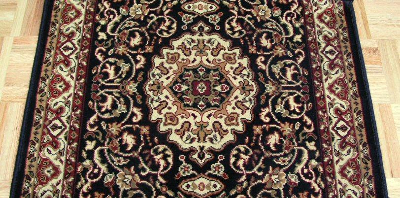 Concord Global Trading Area Rugs Persian Classics 2033 Black Stair Runner and Area Rugs  Poly Turkey