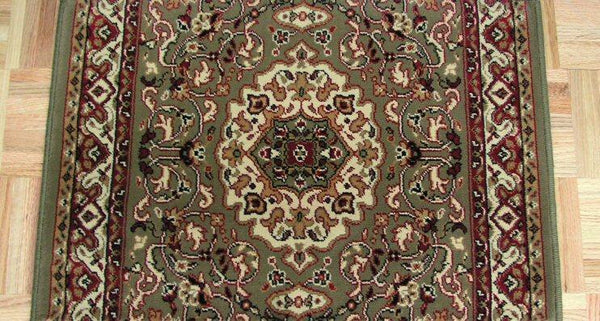 Concord Global Trading Area Rugs Persian Classics 2035 Green Stair Runner and Area Rugs  Poly Turkey