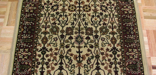Concord Global Trading Area Rugs Persian Classics 2052 Ivory-Red Stair Runner and Area Rugs  Poly Turkey
