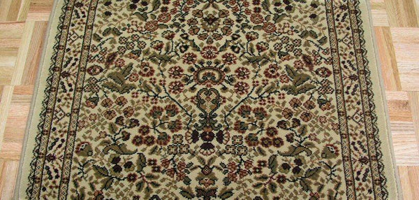 Concord Global Trading Area Rugs Persian Classics 2092 Ivory Stair Runner and Area Rugs  Poly Turkey