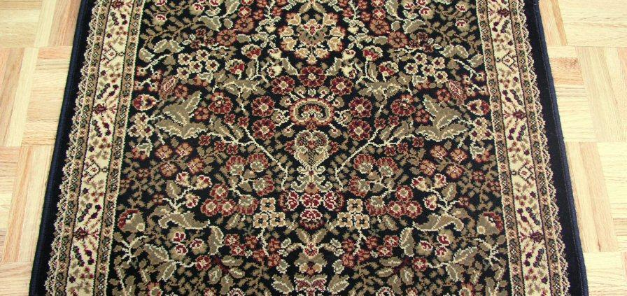 Concord Global Trading Area Rugs Persian Classics 2093 Black Stair Runner and Area Rugs  Poly Turkey