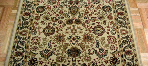 Concord Global Trading Area Rugs Persian Classics 2102 Ivory Stair Runner and Area Rugs  Poly Turkey