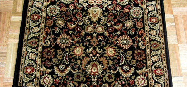 Concord Global Trading Area Rugs Persian Classics 2103 Black Stair Runner and Area Rugs  Poly Turkey