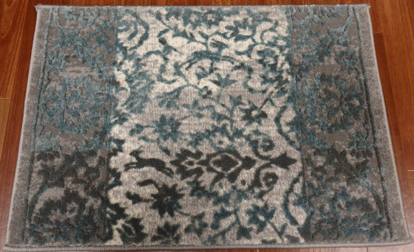 Concord Global Trading Area Rugs Thema Area Rug and Stair Runner 2926 Teal Grey Poly Made In Turkey