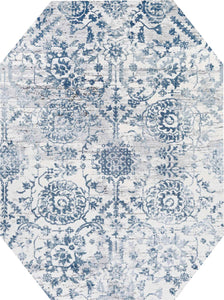 Couristan Area Rugs Calinda Marlowe Steel Blue Area Rugs 5178-0758 Made In Turkey