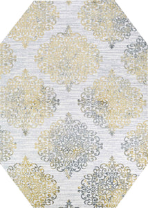 Couristan Area Rugs Calinda Montebello Gold-Silver Area Rugs 5176-0747 Made In Turkey