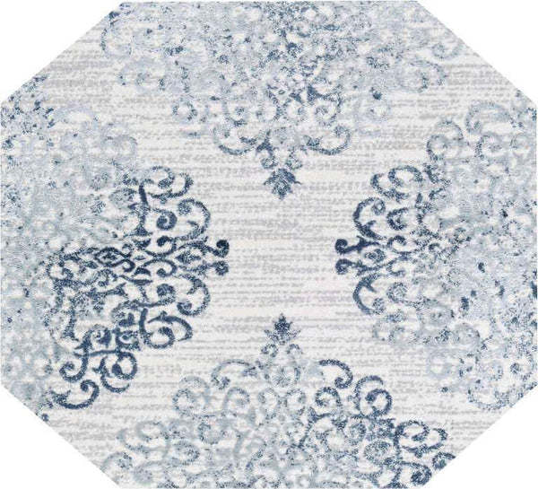 Couristan Area Rugs Calinda Montebello Steel Blue Area Rugs 5176-0758 Made In Turkey