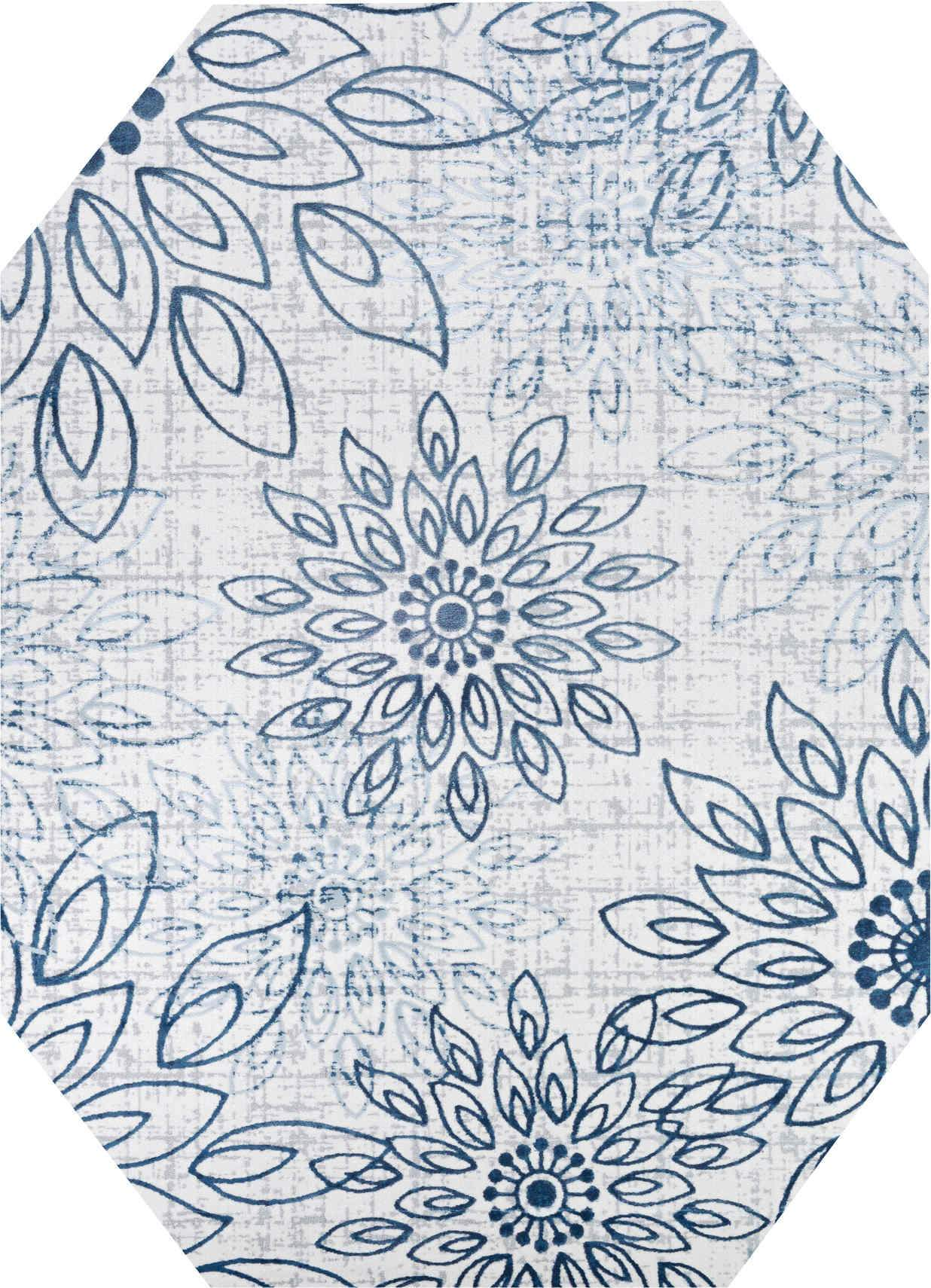Couristan Area Rugs Calinda Summer Bliss Steel Blue-Ivory Area Rugs 5175-0758 Made In Turkey