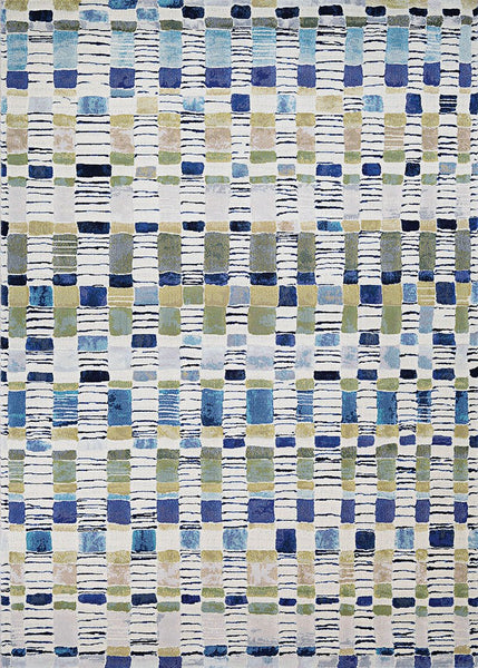 Couristan Area Rugs Easton Area Rugs 6342-6151 Blue in 43 Sizes and Unique Shapes
