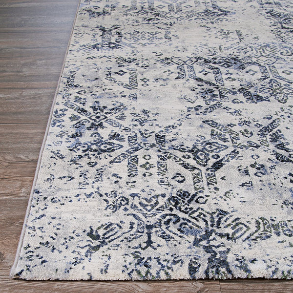 Couristan Area Rugs Easton Area Rugs 6437-7656 Blue in 43 Sizes and Unique Shapes
