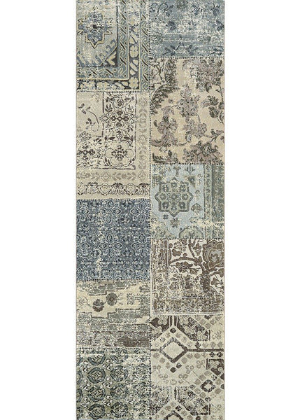 Couristan Area Rugs Easton Area Rugs 6594-6424 Blue in 43 Sizes and Unique Shapes