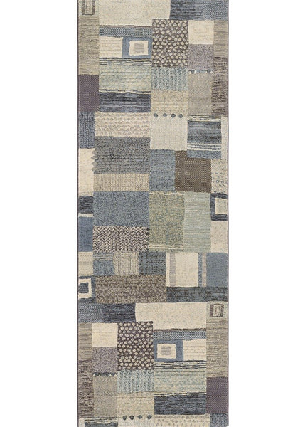 Couristan Area Rugs Easton Area Rugs 6815-6454 Blue in 43 Sizes and Unique Shapes