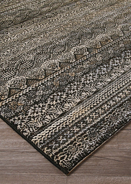 Couristan Area Rugs Easton Area Rugs 6822-3353 Black in 43 Sizes and Unique Shapes