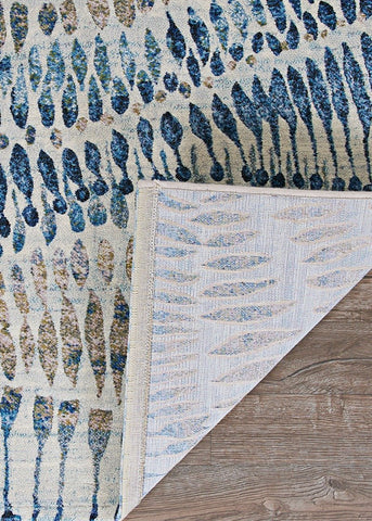 Couristan Area Rugs Easton Area Rugs 6842-6151 Blue in 43 Sizes and Unique Shapes