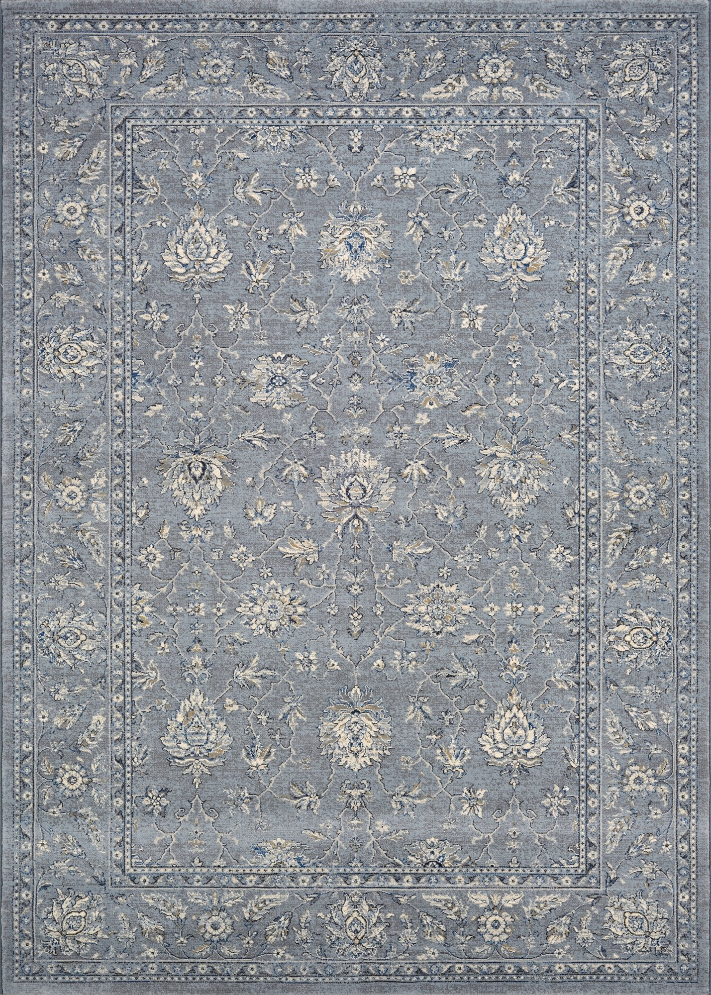 Couristan Area Rugs Sultan Treasures Area Rugs 7141-4646 Blue 7 Sizes 100% Poly Belgium