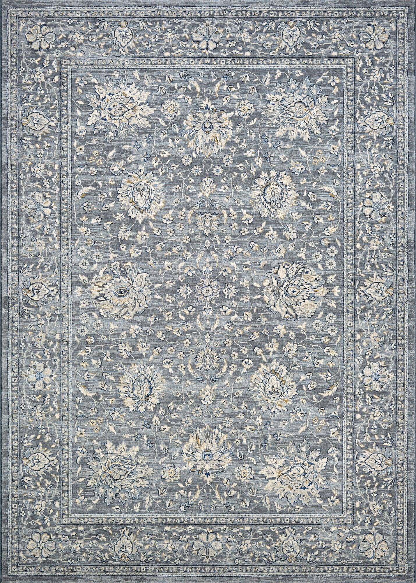 Couristan Area Rugs Sultan Treasures Area Rugs 7141-5656 Slate Grey 7 Sizes 100% Poly Belgium