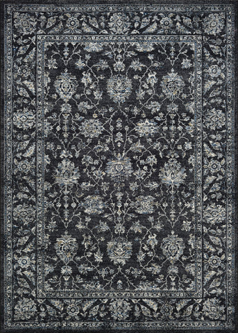 Sultan Treasures Area Rugs 7142-3636 Black 7 Sizes 100% Poly Belgium