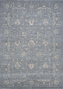Couristan Area Rugs Sultan Treasures Area Rugs 7142-4646 Blue 7 Sizes 100% Poly Belgium