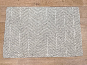 Couristan Stair Runners Addington 6251-0001 Light Grey Herringbone Wool Assorted Products
