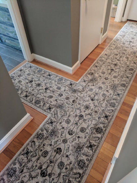 Couristan Stair Runners Everest Rosetta Ivory Stair Runners 0630-0001A - 26 inch Sold By the Foot