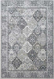 Rectangle Dynamic Area Rugs Ancient Garden Area Rugs 57008-9696 Soft Grey 100% Poly Belgium 13 Sizes