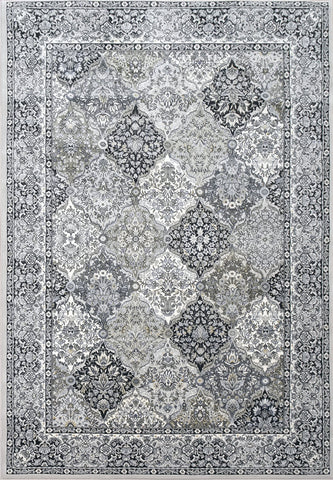 Dynamic Area Rugs Ancient Garden Area Rugs 57008-9696 Soft Grey 100% Poly Belgium 13 Sizes