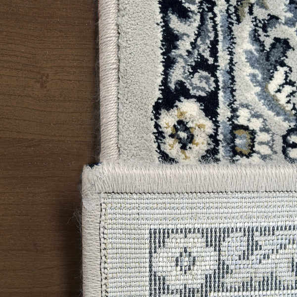 Back Side Dynamic Area Rugs Ancient Garden Area Rugs 57008-9696 Soft Grey 100% Poly Belgium 13 Sizes
