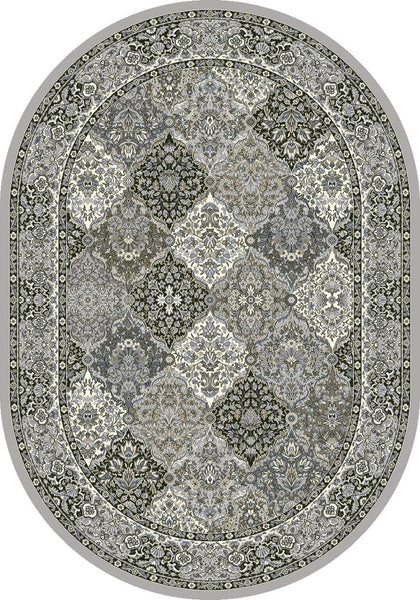 Oval Dynamic Area Rugs Ancient Garden Area Rugs 57008-9696 Soft Grey 100% Poly Belgium 13 Sizes