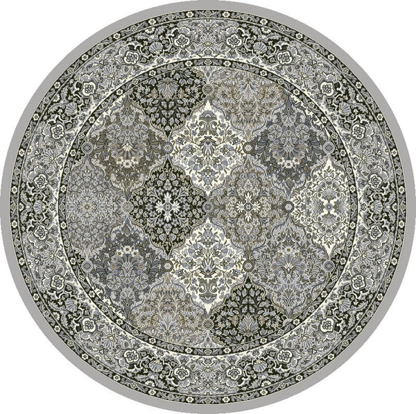 Round Rug Dynamic Area Rugs Ancient Garden Area Rugs 57008-9696 Soft Grey 100% Poly Belgium 13 Sizes