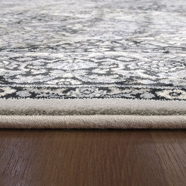 Closeup Dynamic Area Rugs Ancient Garden Area Rugs 57008-9696 Soft Grey 100% Poly Belgium 13 Sizes