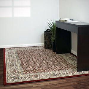 Dynamic Area Rugs Ancient Garden Area Rugs 57011-1414  Red 100% Poly Belgium 13 Sizes