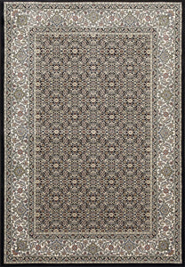 Dynamic Area Rugs Ancient Garden Area Rugs 57011-3263 Black 100% Poly Belgium 13 Sizes