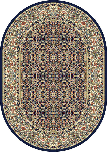 Dynamic Area Rugs Ancient Garden Area Rugs 57011-3464 Navy 100% Poly Belgium 13 Sizes