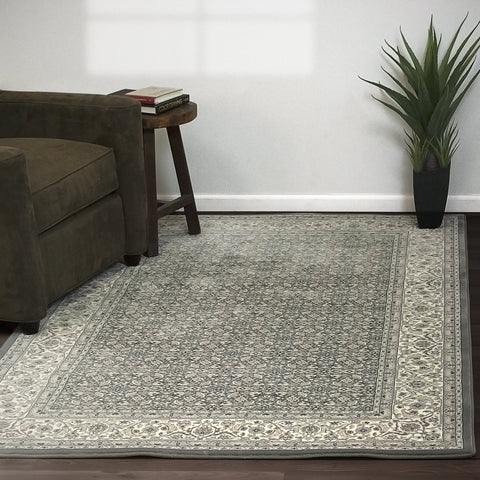 Dynamic Area Rugs Ancient Garden Area Rugs 57011-5666 Grey 100% Poly Belgium 13 Sizes