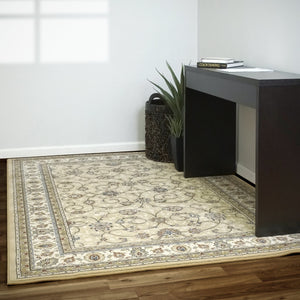 Dynamic Area Rugs Ancient Garden Area Rugs 57120-2464 Gold 100% Poly Belgium 13 Sizes