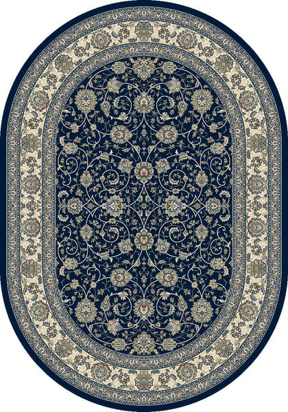 Dynamic Area Rugs Ancient Garden Area Rugs 57120-3464 Navy 100% Poly Belgium 13 Sizes