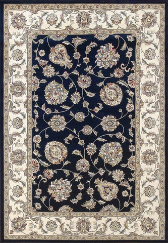 Dynamic Area Rugs Ancient Garden Area Rugs 57365-3464 Navy 100% Poly Belgium 14 Sizes