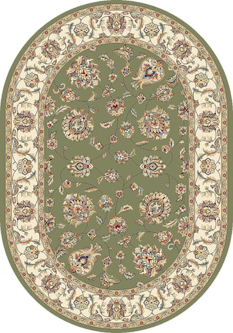 Dynamic Area Rugs Ancient Garden Area Rugs 57365-4464 Green 100% Poly Belgium 14 Sizes