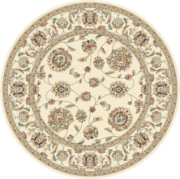 Dynamic Area Rugs Ancient Garden Area Rugs 57365-6464 Ivory 100% Poly Belgium 14 Sizes