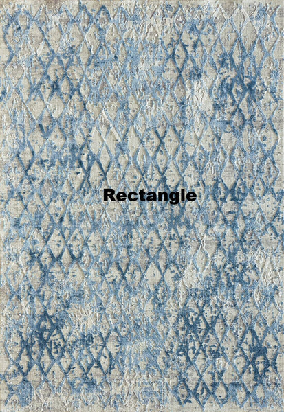 Dynamic Rugs Area Rugs Dynamic Quartz 27039-500 Ivory/Blue  Viscose/Polyester 38 Sizes Available