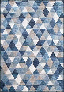 Dynamic Rugs Area Rugs Eclipse Area Rugs 63263-5161 Blue Unique Area Rug Shapes 37 Sizes