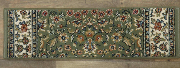 Dynamic Rugs Stair Treads Stair Treads By Dynamic Rugs 57078-4444 Green 26in and 31in By 9in