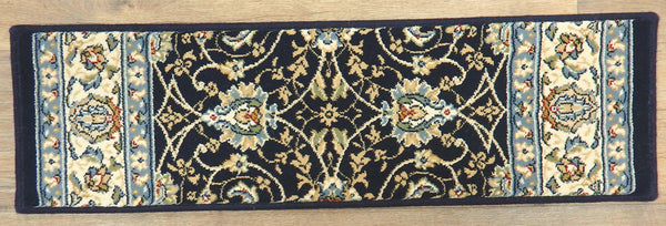 Dynamic Rugs Stair Treads Stair Treads By Dynamic Rugs 57120-3464 Navy 26in and 31in By 9in