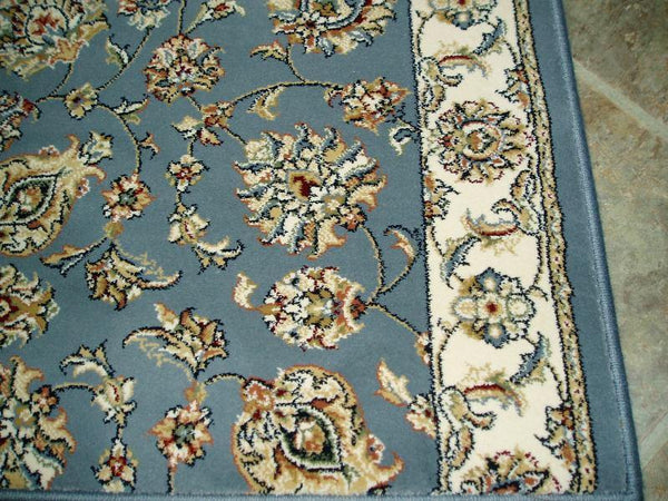 Stair Runner 26 in x 1 ft Ancient Garden Blue Stair Runners 57365-5464-26 inch-Sold By the Foot