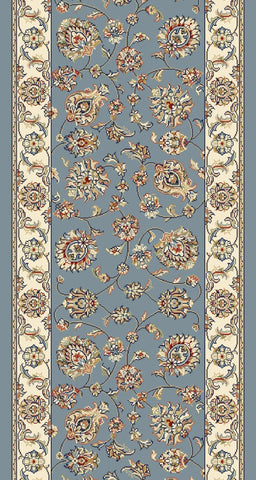 Dynamic Stair Runner Ancient Garden Blue Stair Runners 57365-5464-26 inch-Sold By the Foot