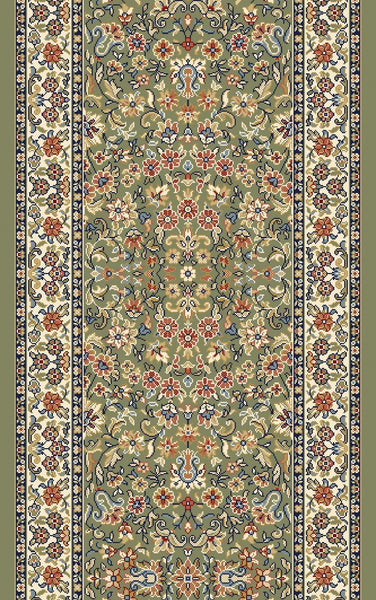 Dynamic Stair Runner Ancient Garden Green Stair Runner 57078-4444-31inSold By the Foot